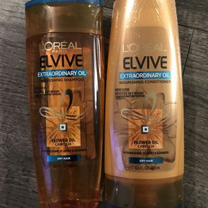 L'ORÉAL elvive extraordinary oil shampoo and conditioner set for Sale in San Bernardino, CA