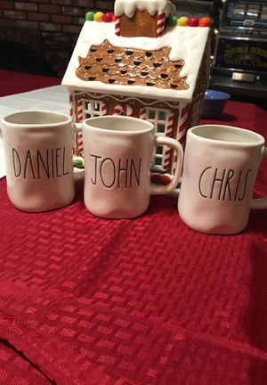 Rae Dunn name Mugs for Sale in Sanger, CA