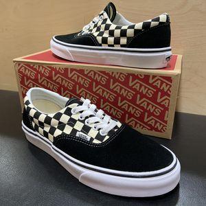 Vans Era Shoe Black/White Checkered Brand New Sizes 7, 8, 9, 9.5, 10.5, 11, 12, or 13 skate skateboarding for Sale in Brea, CA