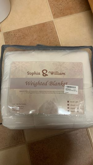 """Weighted Blanket for Adult/Kids, 60""""x80"""", 20 lbs, white, Cotton for Sale in Cheshire, CT"""