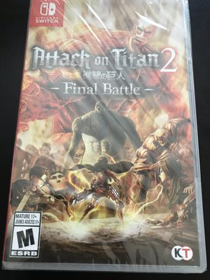 Attack on titan 2 final battle Nintendo switch for Sale in Oakland, CA