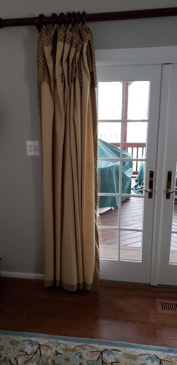 Professionally hand made full length drapes
