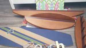 Pottery Barn surf board shelves and peg shelf for Sale in Riverview, FL