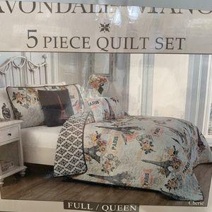 AVONDALE MANOR 5pc FULL/QUEEN Quilt Set for Sale in Ontario, CA