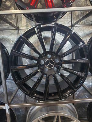 20x8.5 gloss black wheels fits Mercedes E class CLS and S class rim wheel tire shop for Sale in Tempe, AZ