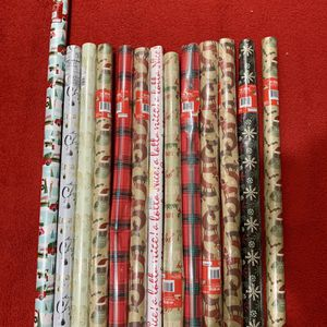 Brand New Christmas Wrapping Paper 13 Rolls $10 for Sale in Visalia, CA