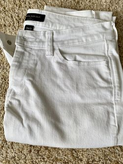 White Skinny Jeans- Size 2 Banana Republic for Sale in Fort Worth,  TX