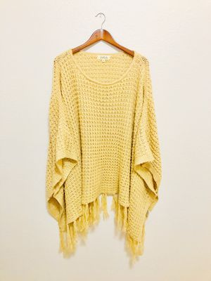 Listicle Fringe Crochet Sweater Cardigan/Poncho for Sale in Frisco, TX