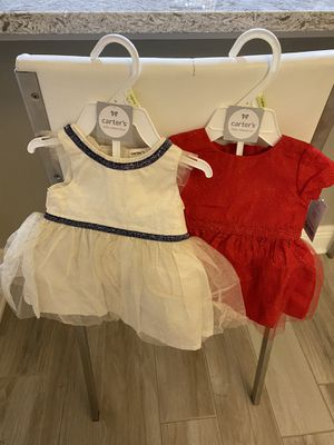 New Carter's baby dresses (3 mons 2 dresses) for Sale in Wesley Chapel, FL