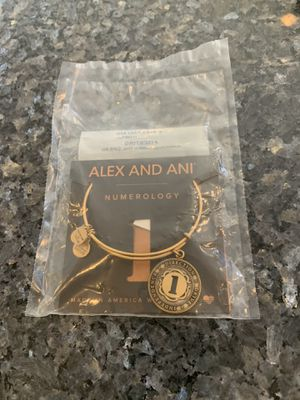 Alex and Ani bracelet (number 1 charm) for Sale in Hinsdale, IL
