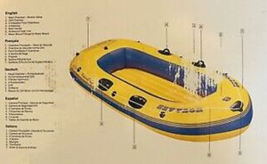 """Sevylor 4 Persons Inflatable Round Boat KK85, 9'-1"""" for Sale in Glendora, CA"""