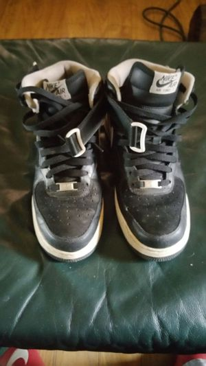 Blk leather & suede nike Air F1 for Sale in Pittsburgh, PA