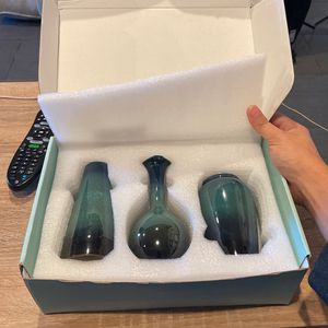 Ceramic Flower Vases Set of 3, Special Design Style of Flambed Glazed,Decorative Modern Floral Vase for Sale in Redwood City, CA