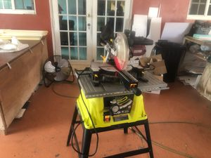 Ryobi table saw and Chicago electric angle circular saw. for Sale in Homestead, FL
