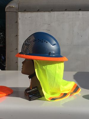 Fiberglass Safety Hard Hat with Neck Shield bundle for Sale in Los Angeles, CA