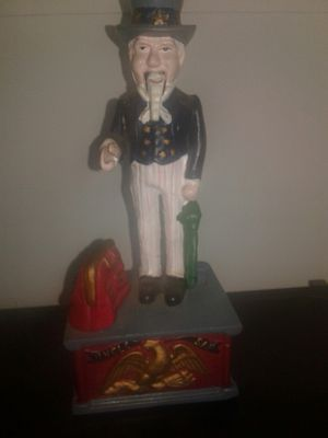 Uncle sam metal piggy bank for Sale in Clearwater, FL
