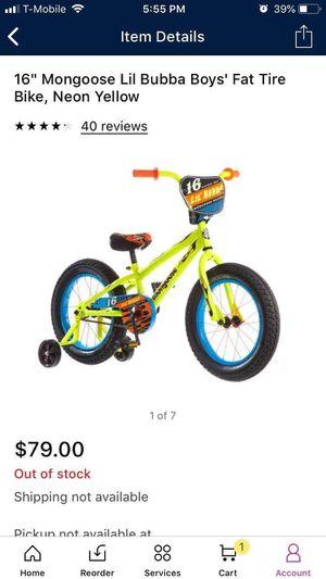 kids mongoose bike for Sale in Austin, TX