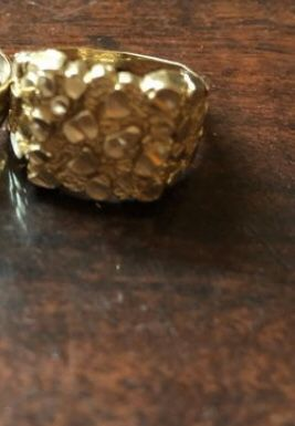 Solid 10k gold nugget ring & iPhone 6 space grey for Sale in San Antonio, TX