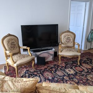 Jan Embroidered Antique Chairs for Sale in Hampton, VA
