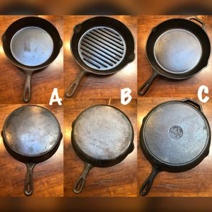 ~~🍳Cast Iron Pan Trio🍳~~ •••$75 all or priced as marked••• for Sale in Centereach, NY