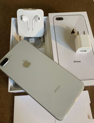 iPhone 8 Plus silver 64gb for AT&T or cricket for Sale in Alhambra, CA