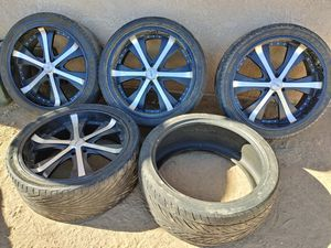 24s 6lug all good tires for Sale in Hesperia, CA