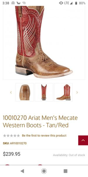 Ariat boots 9.5mens for Sale in Mesquite, TX