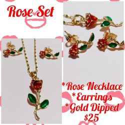 Rose Set Gold Plated for Sale in Long Beach,  CA