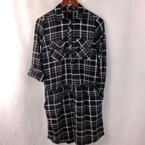 Plaid Flannel Shirt Dress Roll Tab S for Sale in Longmeadow, MA