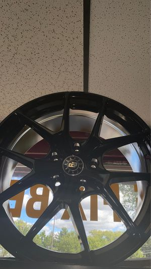 Black jack rims 18 inch 5x120 all black rims with tires full package for Sale in Madison Heights, MI