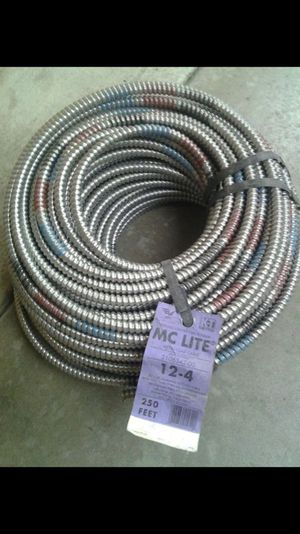 Check out this Electrical wire 12/4, 12/3, 12/2 gauge X 250ft. MC Lite Wire flex cable brand new for Sale in Baldwin Park, CA