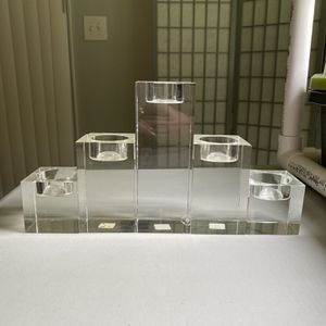 Crate & Barrel Oslo Crystal Tea Light Set (5) for Sale in Attleboro, MA