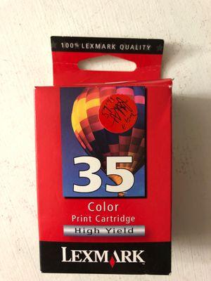 LexMark 35 Color Ink Printer Cartridge for Sale for sale  Menifee, CA