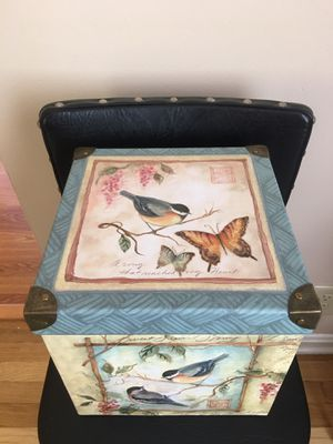 """Butterflies & Birds Accent Box W/Lid 8.5"""" Square W/ Brass Edges LN Pick Up or Will Ship for Sale in Parma Heights, OH"""