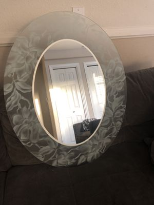 Frosted oval mirror for Sale in Placentia, CA