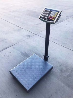 New 660 lbs capacity all metal steel commercial grade platform scale rechargeable weight LB and KG for Sale in Whittier, CA