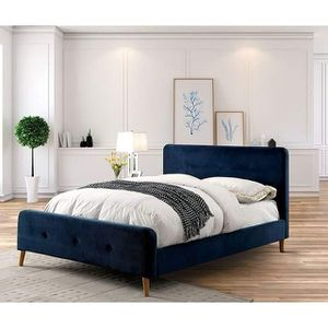 NAVY BLUE QUEEN OR FULL SIZE BED for Sale in Riverside, CA