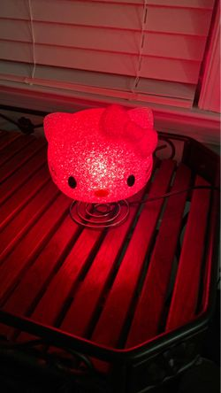 Hello kitty nightlight with interchangeable lightbulb for Sale in Chesapeake,  VA