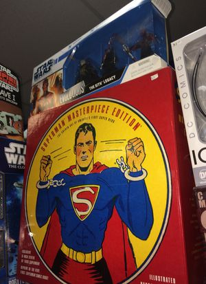 Superman masterpiece edition book, statue and comic book new in package for Sale in Schaumburg, IL