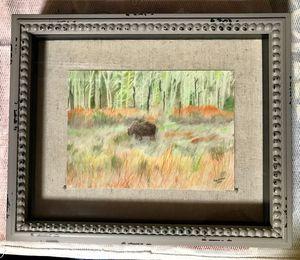 "Framed Original Sketch Art - ""Peaceful Graze"" for Sale in Thompson's Station, TN"
