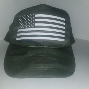 Two Crown Boutique Trucker Snapback Hat Camouflage American Flag Frame for Sale in Fontana, CA