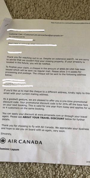 Air Canada 25% Discount Code for Sale in Renton, WA