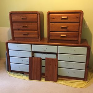 Dresser, Night Stands And Mirror for Sale in Graham, WA