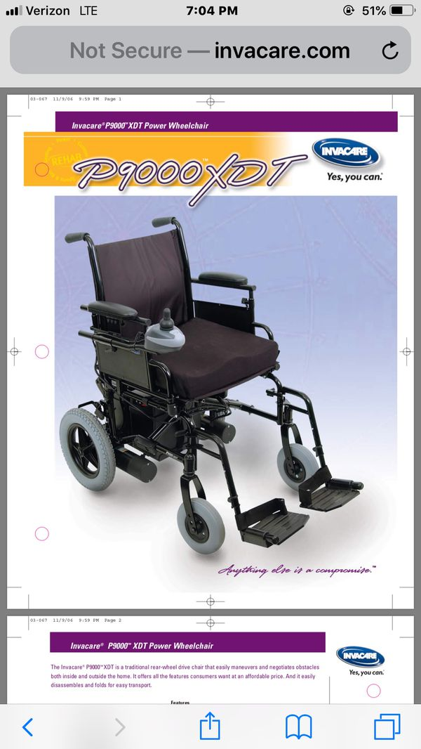 Electric wheelchair P900 XDT for Sale in Newark, CA - OfferUp