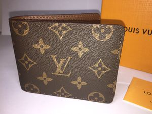 Louis Vuitton Monogram Brown Leather Wallet Authentic for Sale in Queens, NY