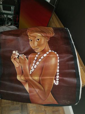 Large Canvas painting from Bali for Sale in Atlanta, GA