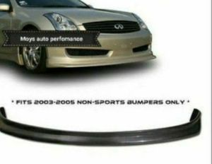 NEW JDM N1 Front Bumper Lip Urethane Plastic for 03 04 07 Infiniti G35 Coupe 2DR for Sale for sale  Pomona, CA