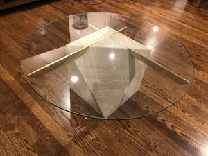 Marble and Glass Coffee Table and 2 End Tables for Sale in Boston, MA