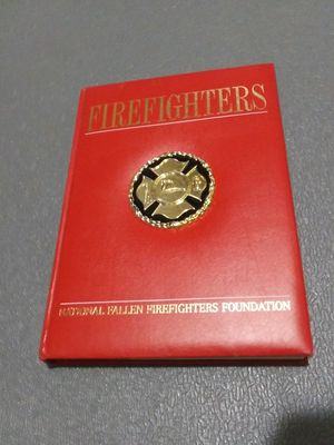 Large new leather bound firefighters book for Sale in Elizabethton, TN