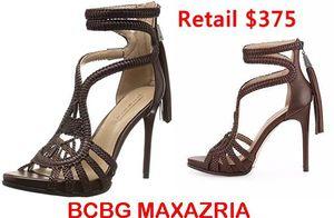 BCBG Esh High-Heel Leather Macrame Sandals Heels 7.5 for Sale in Hyattsville, MD